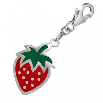 Charm-Anhänger rote Erdbeere