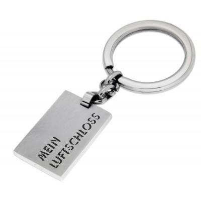 Schlüsselanhänger rechteckig mit Gravur