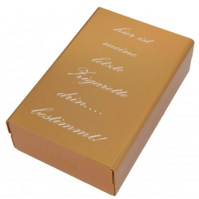 Zigarettenbox mit Gravur goldfarben