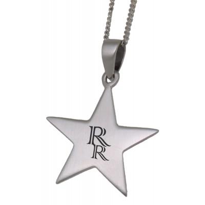 Silber Anhänger mit Gravur Stern