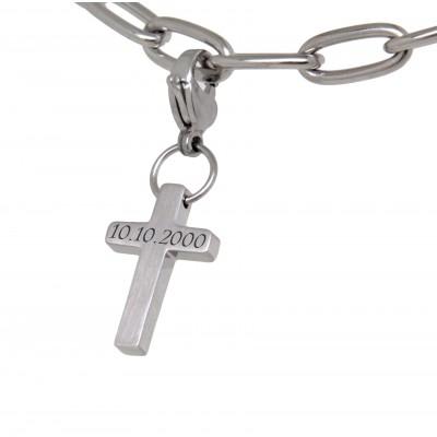Charm Kreuz mit Gravur