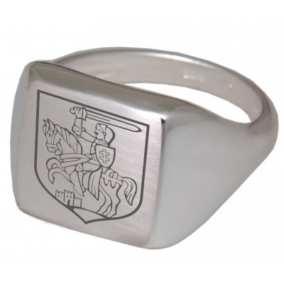 Siegelring Silber mit Gravur rechteckig