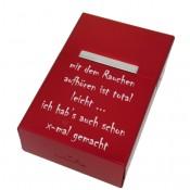 Zigarettenbox mit Gravur rot