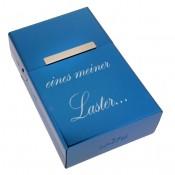 Zigarettenbox mit Gravur blau
