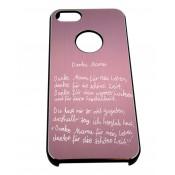Handyhülle für iphone 5, rose mit Gravur