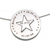 Zweiteiliger Anhänger mit Gravur - Stern