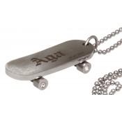 Anhänger Skateboard silver mit Gravur