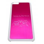 Handyhülle für iPhone6 Plus pink mit Gravur