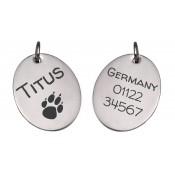 Hundehalsband-Anhänger mit Gravur