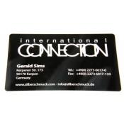 Visitenkarte Aluminium schwarz 10Stk.