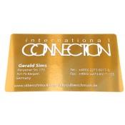 Visitenkarte Aluminium gold 10Stk.