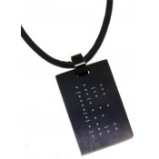 Anhänger mit Gravur Morseschrift schwarz