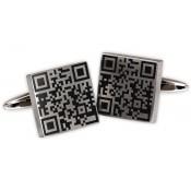 Manschettenknöpfe mit Ihrem QR-Code, mit Gravur