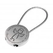 Schlüsselanhänger rund mit Gravur