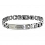 Schmales Edelstahl-Armband mit Wunschgravur