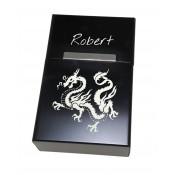 Zigarettenbox mit Gravur schwarz